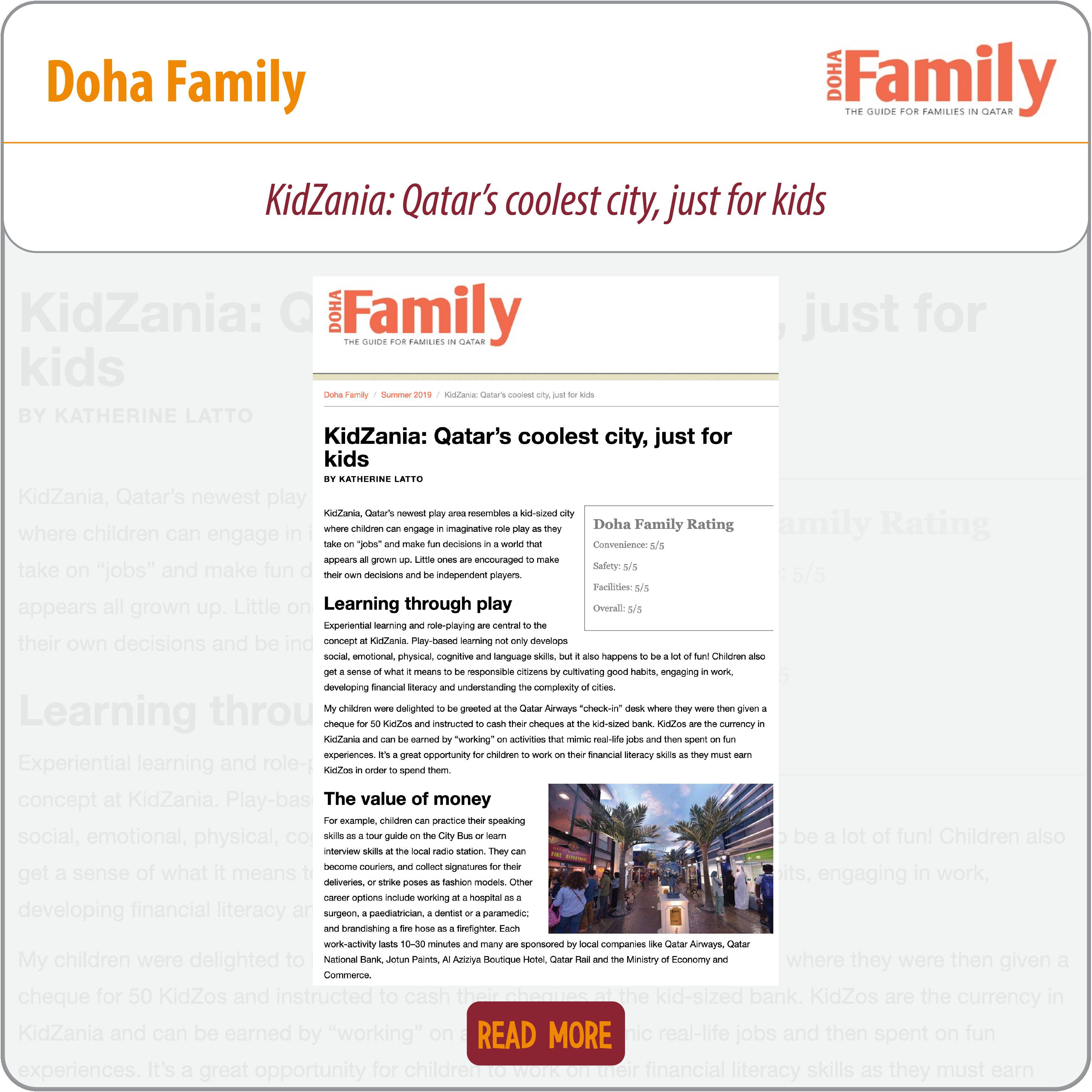 What's on | Media | KidZania Doha, Aspire Zone