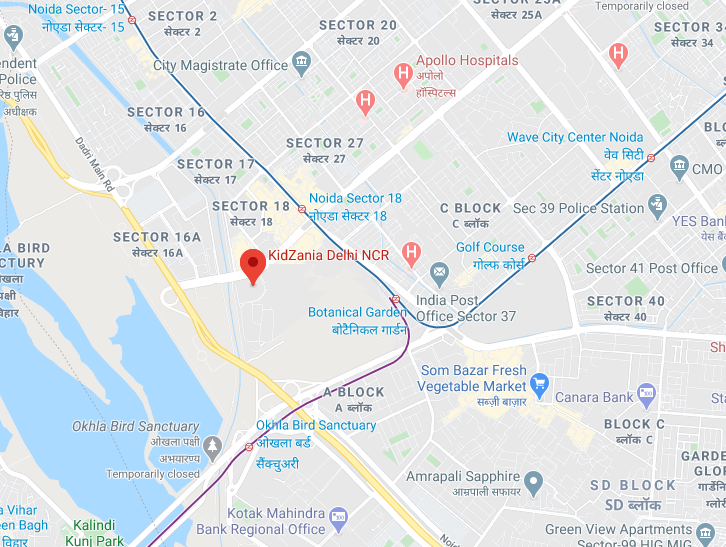 KidZania Delhi NCR on Google Map