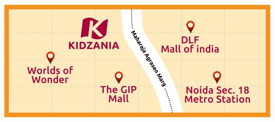KIdZania Delhi NCR map