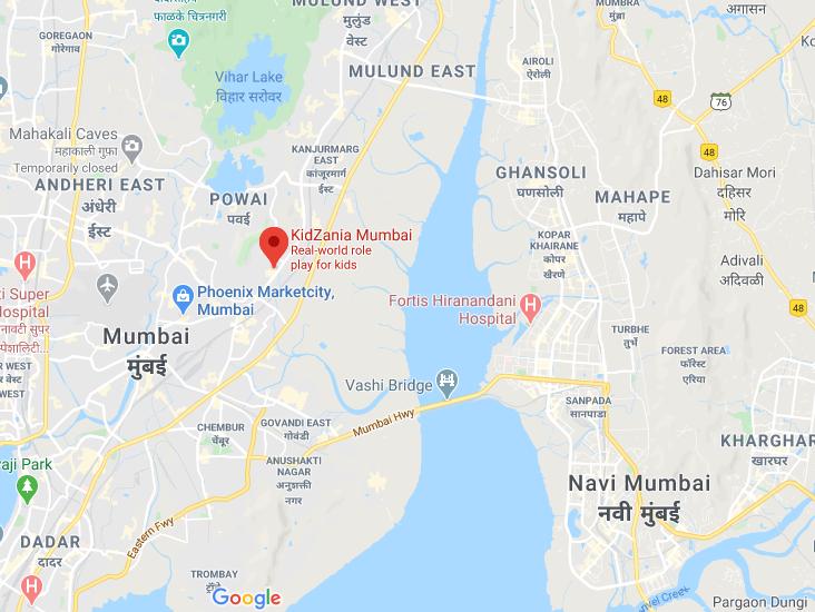 KidZania Mumbai map