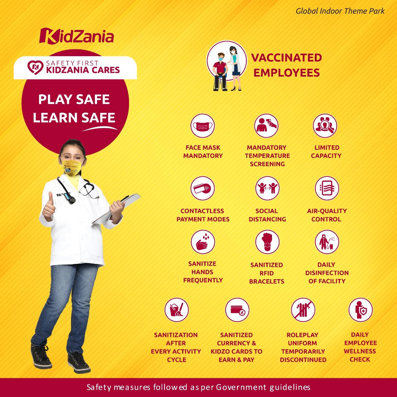 KidZania safety measures