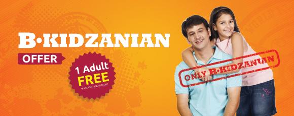 1 Adult Ticket Free on BKidZanian PaZZport